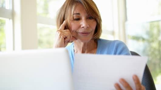 Personal finance reviewing bills