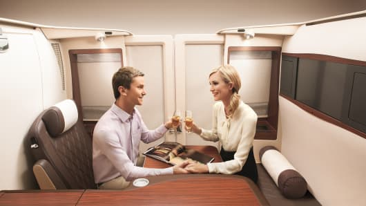 Singapore Airlines first class private suite
