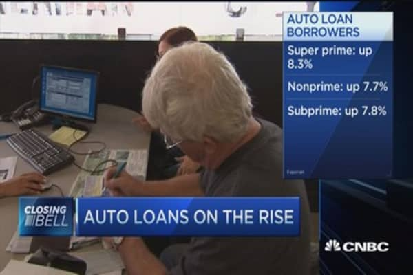 Is there a bubble in auto loans?