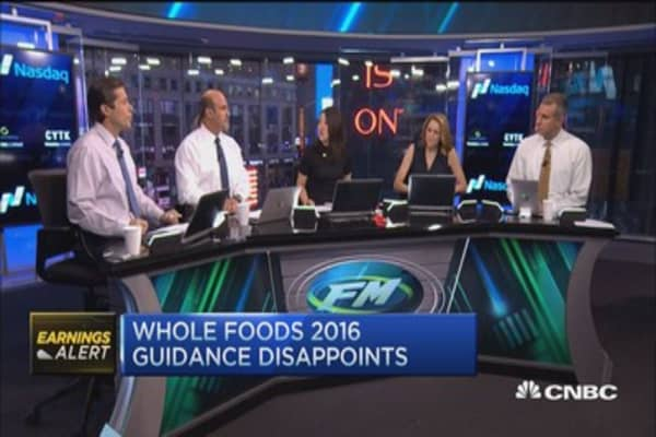 Whole Foods plunges on earnings