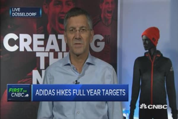 Happy with growth of Adidas brand in US: CEO