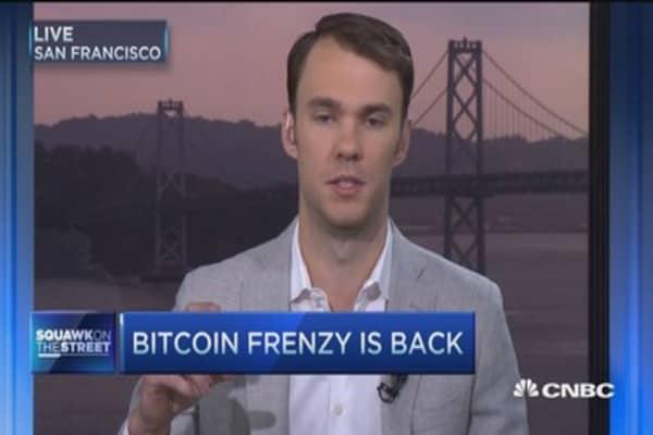 Bitcion frenzy is back