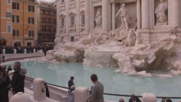 3001e17ebf1e Rome s Trevi Fountain reopens after  2.4M restoration