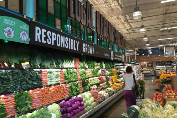 Produce at a Whole Foods store in Berkeley, Calif.