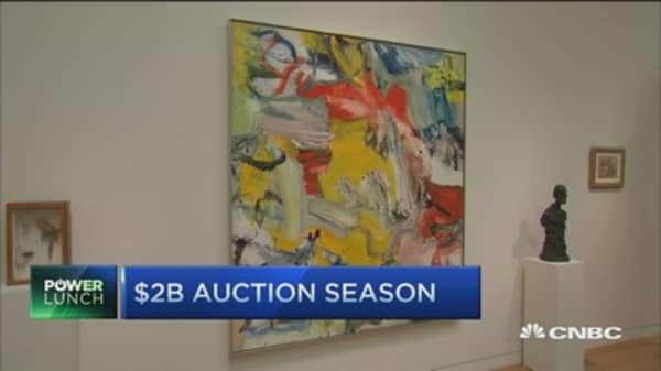 Record art auction hits $377M