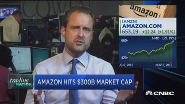 Amazon hits $300B market cap