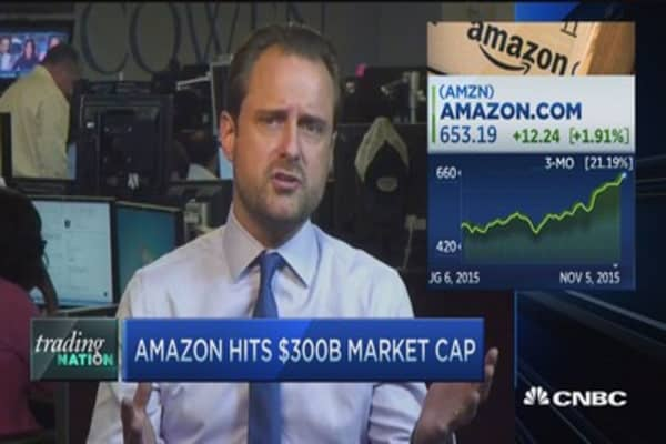 Amazon hits $300B market cap