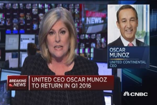 United CEO back in Q1