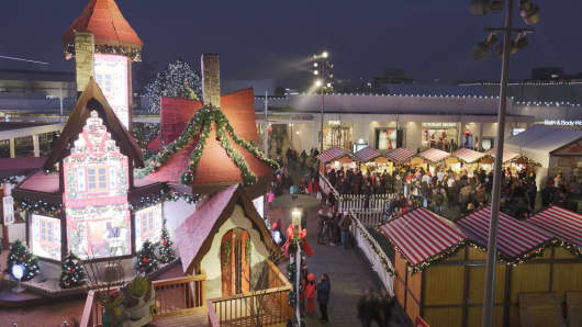 The Christkindlmarket at General Growth Properties' Oakbrook Center, in Oak Brook, Ill.