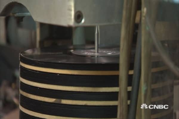 Vinyl record sales surge
