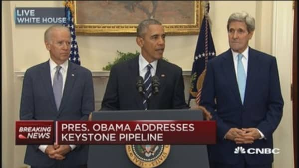President Obama rejects Keystone pipeline