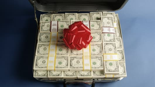 money suitcase inheritance