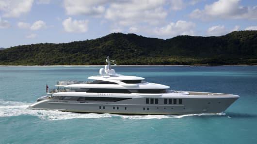 "The 220-foot, $50 million ""Spectre"" yacht."