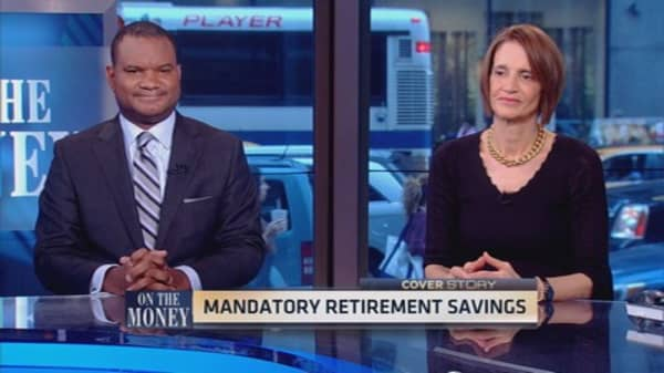 Forced retirement savings