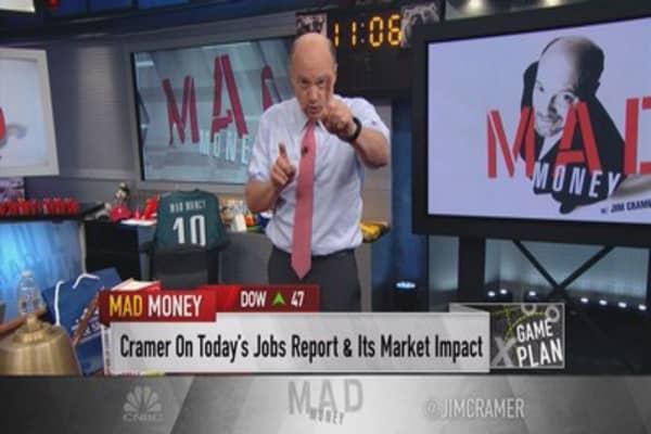 Cramer game plan: Stocks in the jobs blasting zone