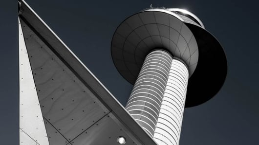 Control tower at the Stockholm-Arlanda Airport, Sweden
