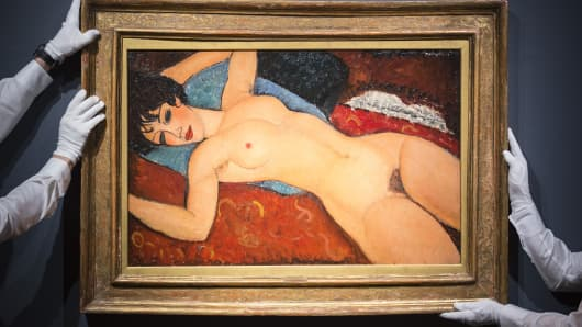 Amedeo Modigliani (1884-1920). Nu couche. Painted in 1917-1918.