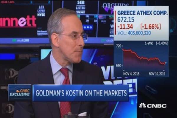 Goldman Kostin's market view