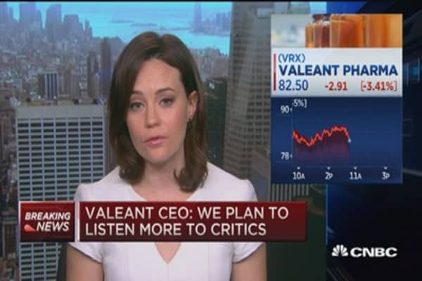 Valeant CEO: Plan to listen more to critics
