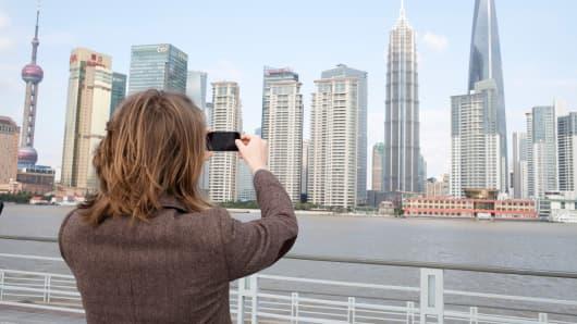 Tourist in Shanghai China