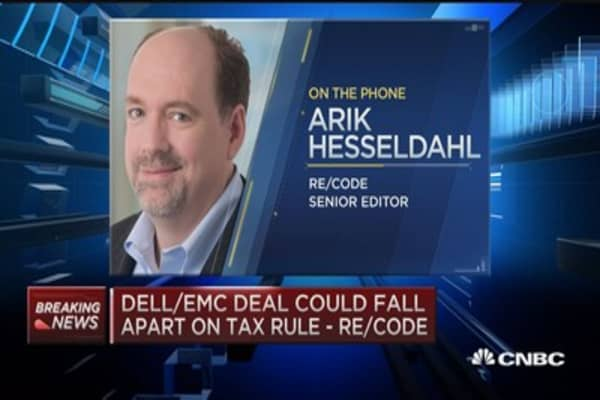 Dell/EMC deal could fall apart on tax rule: Re/code