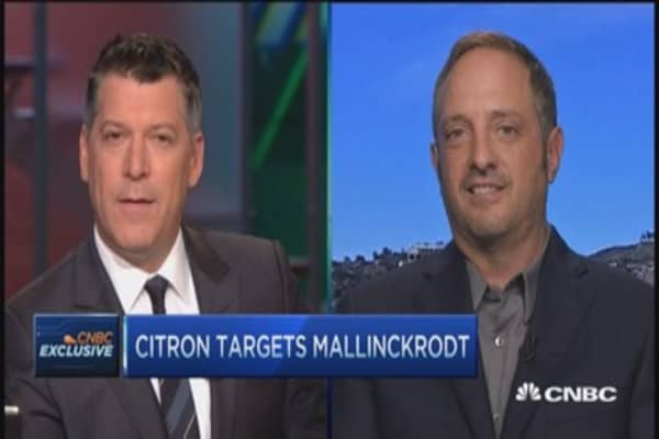Citron targets Mallinckrodt