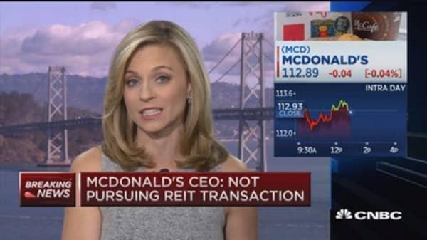 MCD CEO: Not pursuing REIT transaction