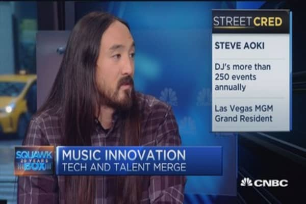 Steve Aoki...  DJ and entrepreneur