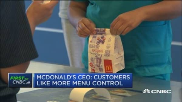 MCD CEO:  Want to get confidence back in trading