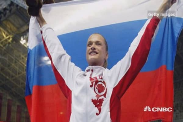 Russian reaction to doping scandal