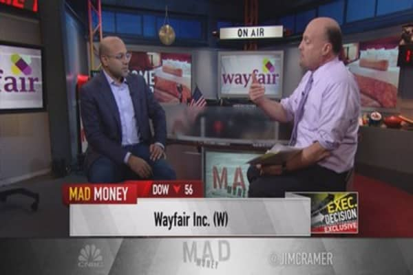 Cramer: Viciously hated Wayfair punished enough?