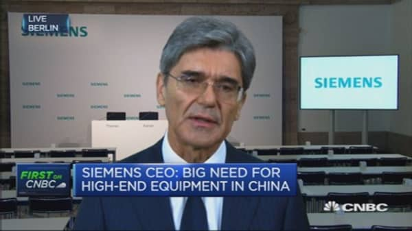 Siemens CEO on health care business