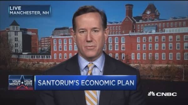 Rick Santorum's economic plan.... it's simple
