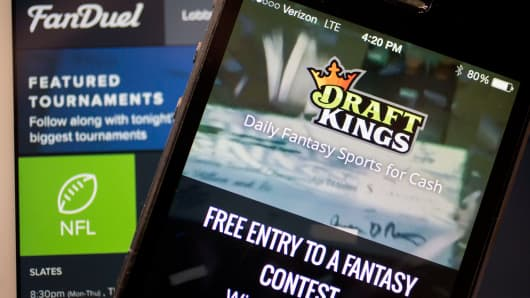 The DraftKings app and FanDuel website
