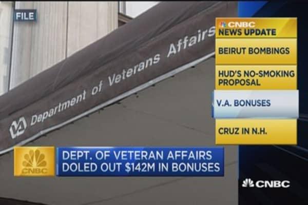 CNBC update: VA bonuses