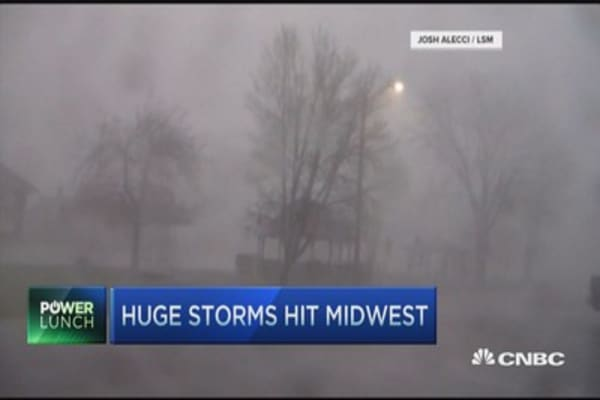 Severe weather in Midwest
