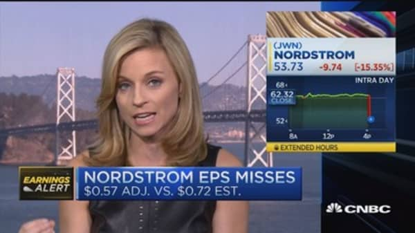Nordstrom shares tank 16% on earnings miss