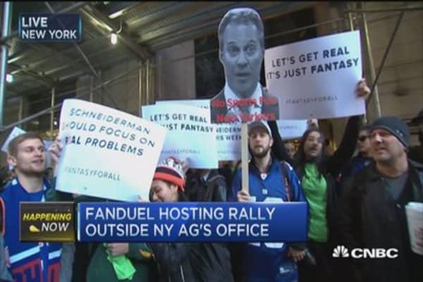 FanDuel fans rally in New York