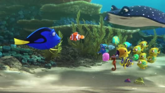 "A still from Pixar's ""Finding Dory."""