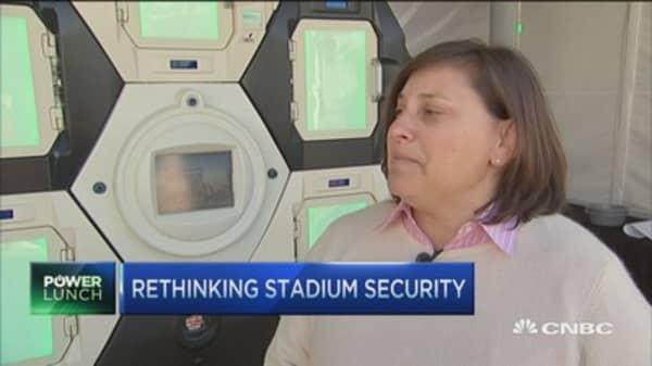 Super Bowl stadium tests new security system