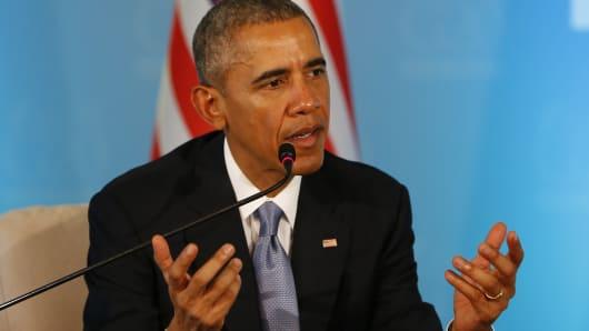 President Barack Obama at the G20 Summit in Antalya, Turkey on Nov. 15, 2015.