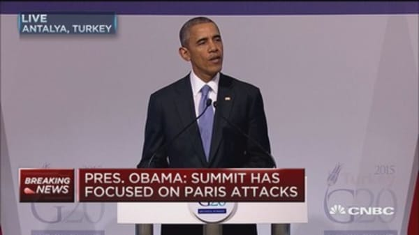 President Obama: Much of G20 focus on Paris attacks