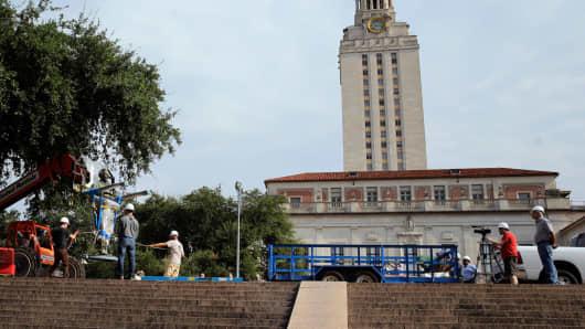 University of Texas campus in Austin, Texas.