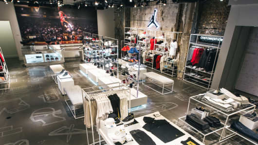 the jordan brands store at 32 south state street in chicago.