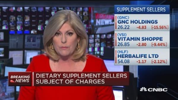 Criminal, civil charges against dietary supplement sellers