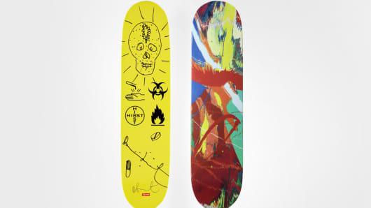Damien Hurst x Supreme Skateboard Deck