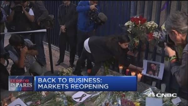 Paris aftermath, markets reopen