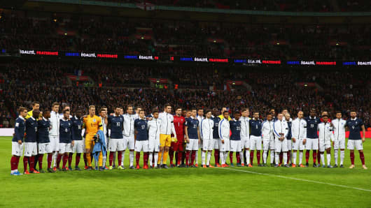 International Friendly match between England and France at Wembley Stadium on November 17, 2015 in London, England.