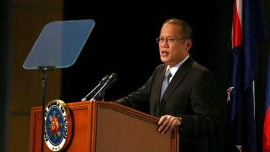 President Aquino Addresses Philippines-NZ Business Forum on October 23, 2012 in Auckland, New Zealand.