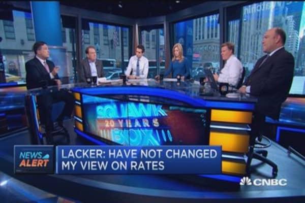 Jeffrey Lacker: Not much labor slack left